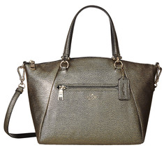 NWT Coach 36325 Metallic Pebbled Leather Prairi... - $173.84