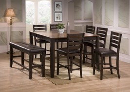 Crown Mark 2728 Dining Room Set 8pc. Elliot Counter Height Contemporary ... - €960,40 EUR