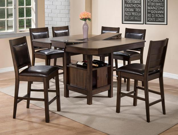 Crown Mark 2847 Dining Room Set 7pc. Marlow Counter Height Contemporary Style