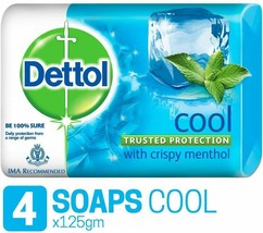 Dettol Cool Soap, 125g (Pack Of 4) - 100% pure & Ayurvedic - $12.99