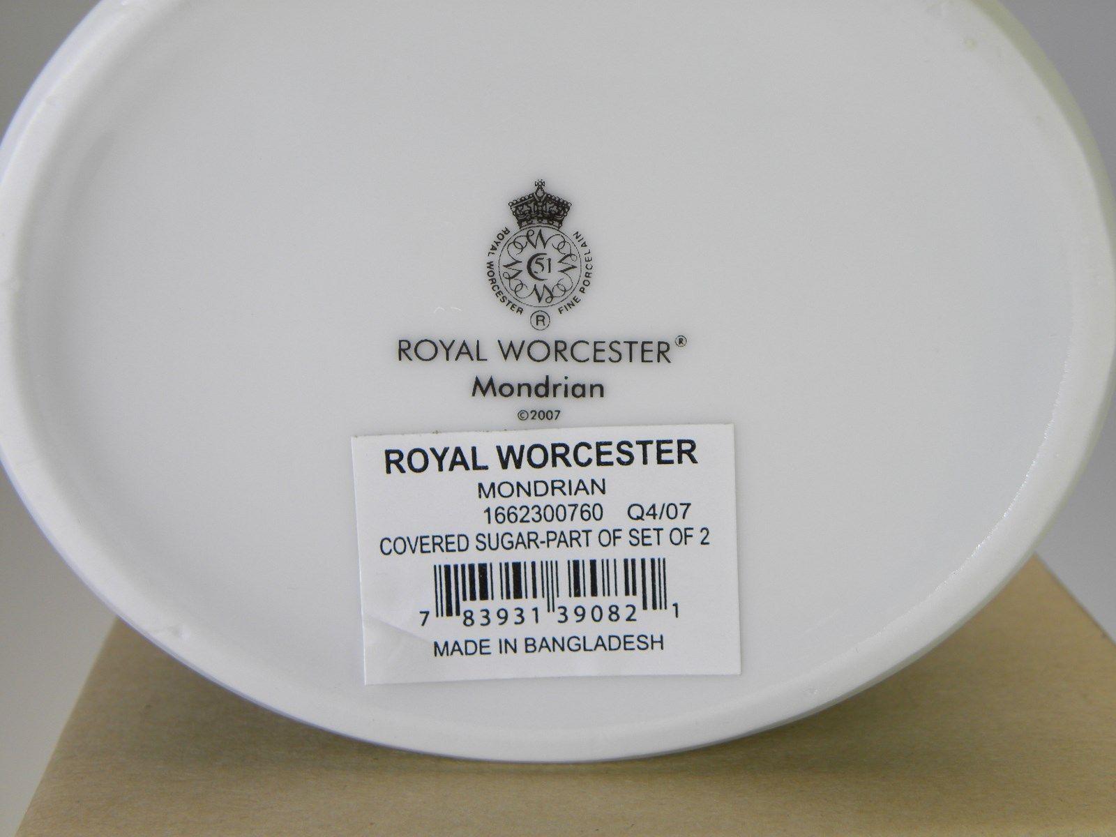 Royal Worcester Mondrian Covered Sugar