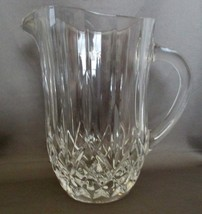 "Vintage Heavy Cut Crystal Diamond Design 8"" Juice Water Ice Tea Pitcher - $26.99"