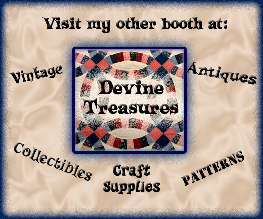 Devine Treaures - Vintage, Collectibles, Craft Supplies, and Patterns