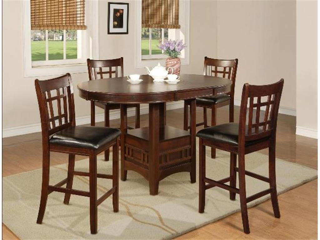 Crown Mark 2795 Dining Room Set 5pc. Hartwell Counter Height Casual Style