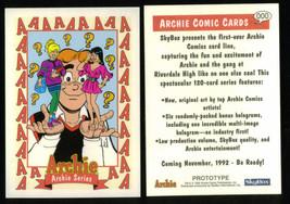 Archie Comics Series Promo//Prototype Card #8 Betty /& Veronica! SkyBox, 1992