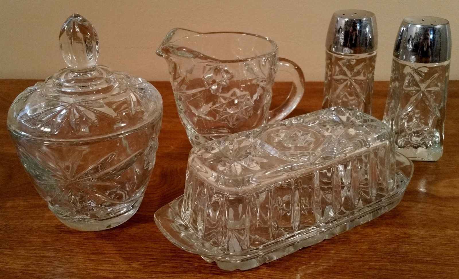 Anchor Hocking EAPC Early American Prescut 7 Candy Dish 4 Available Excellent!