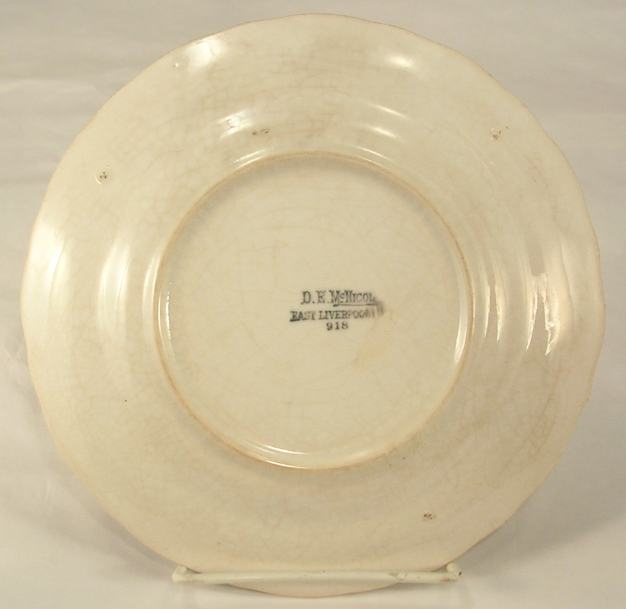 D E McNichol East Liverpool Commerative Calendar Plate The Great World War