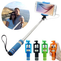 Mini Wired Selfie Stick Monopod Extendable - 1 Item w/Random Color and Design image 2