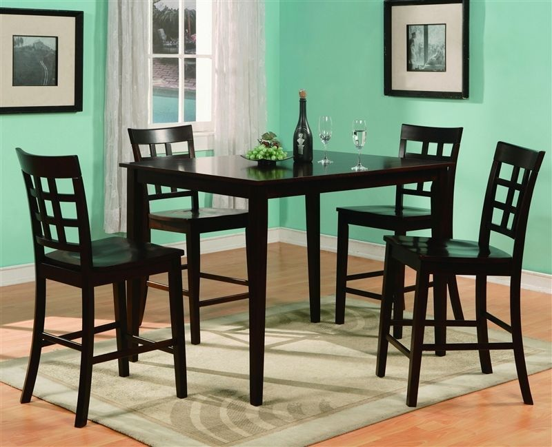 Crown Mark 2725 Dining Room Set 5pc. Espresso Austin Counter Height Casual Style