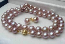 2015 Charming women hot sale 8-9mm Purple Pink Akoya Cultured Pearl Neck... - $22.17
