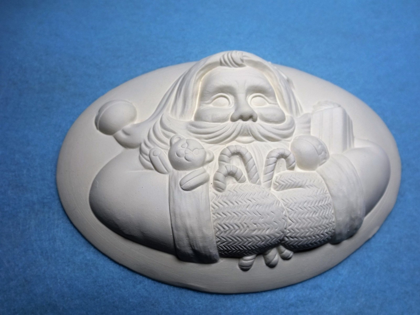 Santa insert ceramic bisque ready to paint unpainted you for Ceramic based paint