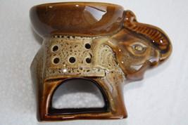 Vintage Ceramic Elephant Design Tart Candle War... - $29.69