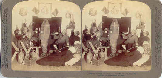 Mickeys Ghost or an Irish Wake stereoview