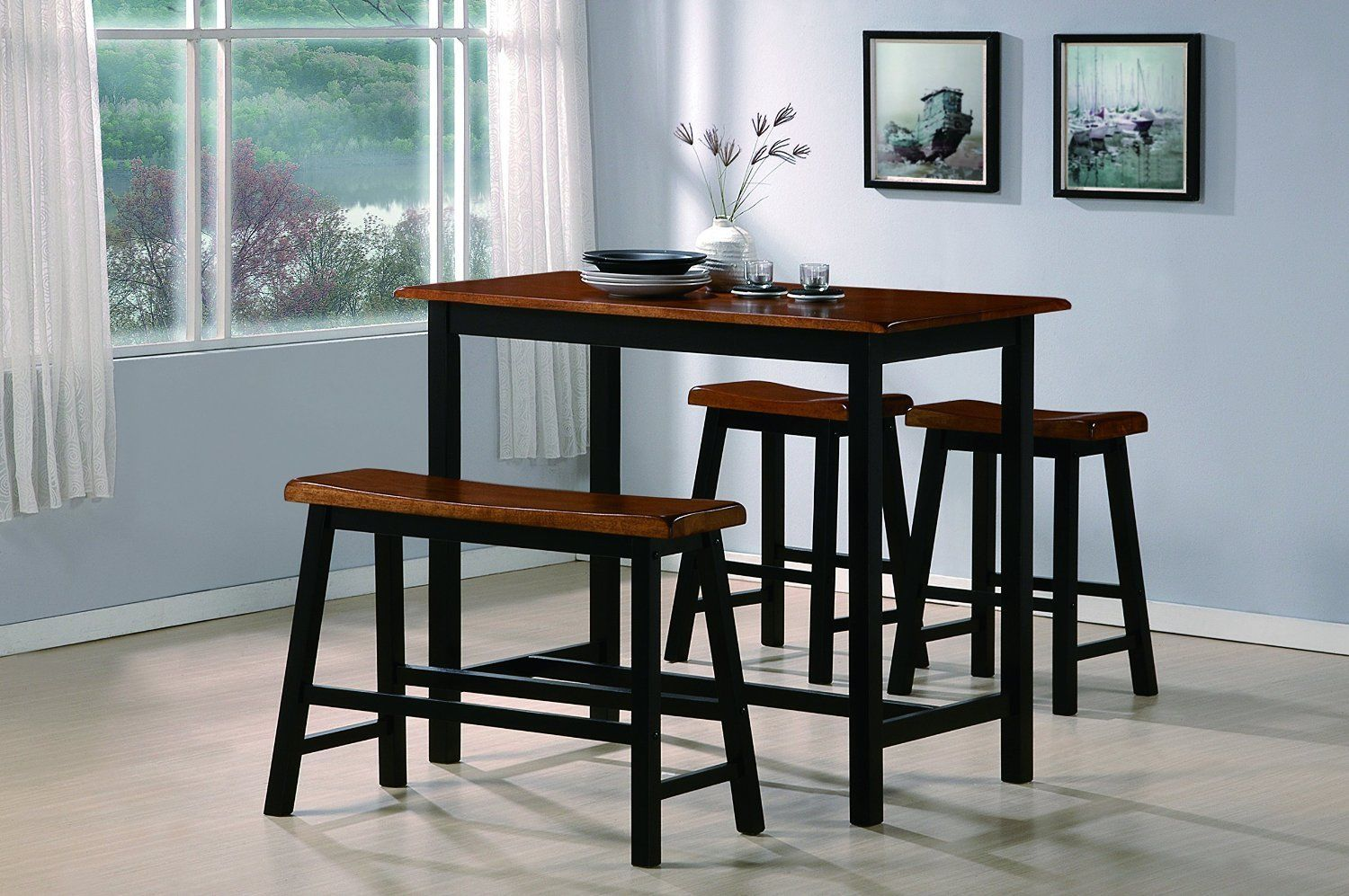 Crown Mark 2729 Dining Room Set 4pc. Tyler Counter Height Casual Style