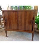 Mid Century Record Cabinet Credenza Storage Sid... - $149.99