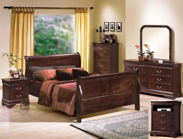 Crown Mark RB3750 Louis Philip King Size Bedroom Set Contemporary 2 Night Stands