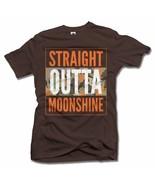 STRAIGHT OUTTA MOONSHINE CAMO L Brown Men's Tee (6.1oz) - $18.81