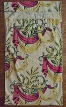 Barkcloth Vintage Pink Yellow Swag Leaf Design For Crafter Cutter image 2