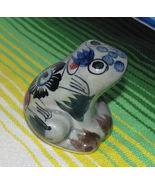 Vintage Mexican Ceramic Frog Figurine Signed RS Mexico - $8.99