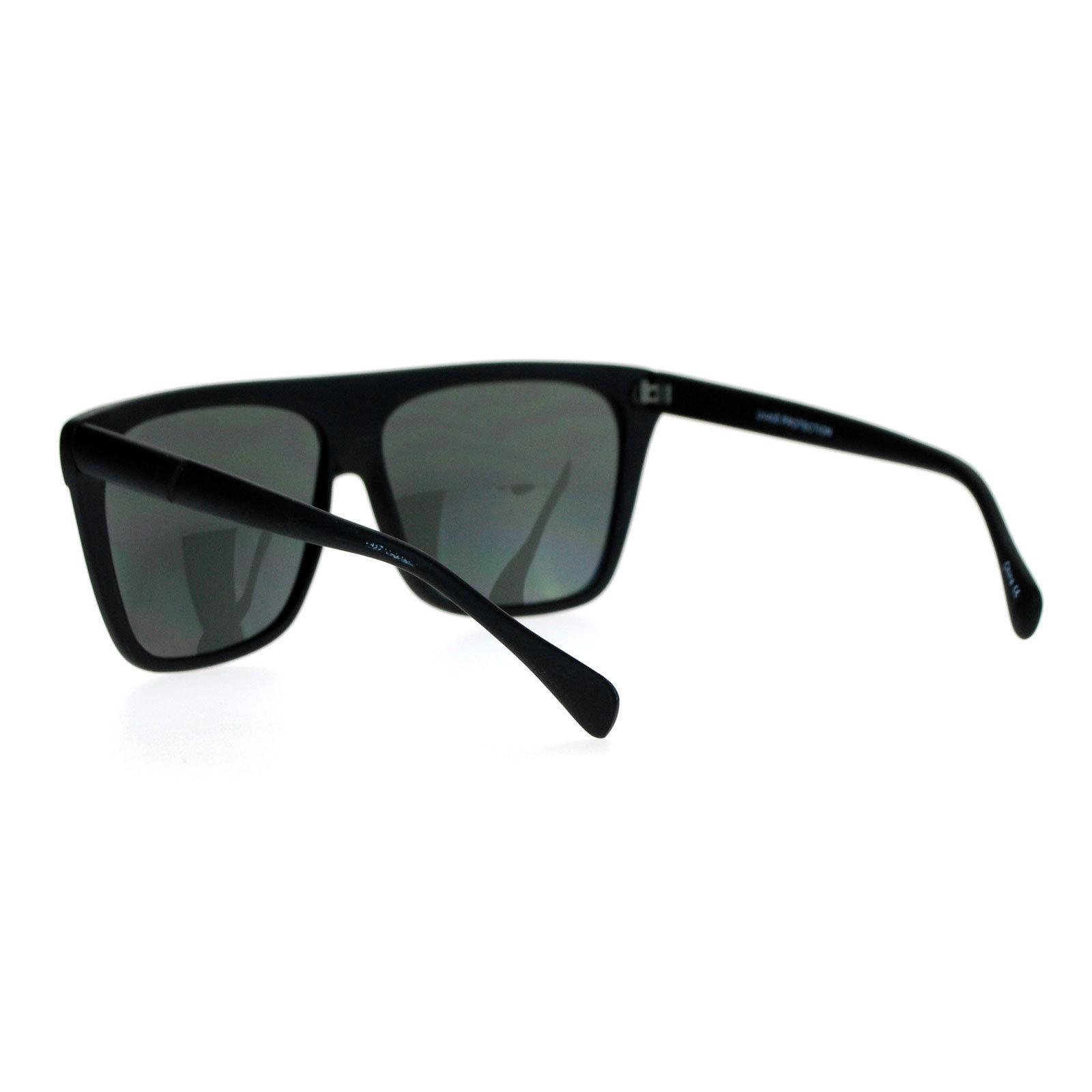 Unisex Fashion Sunglasses Classic Square Flat Matted Top Frame UV 400