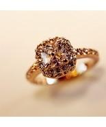 Women's Swarovski Style Big Faux Diamond Crystal Ring - $11.59