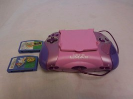 Leap Frog Pink Purple Leapster L-Max Learning Game System  w/ Stylus+ 3 ... - $9.62