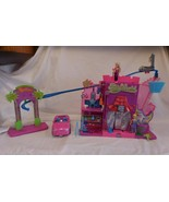 Polly Pocket PollyWorld Rockin' Theme Park Lights Music Stage + Car + Doll + Acc - $18.02