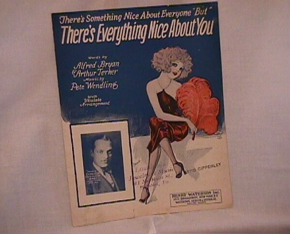There Is Everything Nice About You Vintage Sheet Music