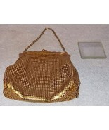 Whiting and Davis Gold Mesh Ladies Evening Purse Made USA - $32.00