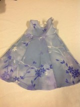 American Girl Purple Flower Sleeveless Dress - $12.86