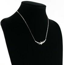 Vintage .925 Sterling Silver Kay JWBR Jane Seymour Diamond Pendant Neckl... - £97.74 GBP