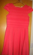 Womens Dress Size 8- Elle Cap Sleeve orange Formal Polyester solid mini ... - $11.73