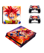 Dragon Ball Z Super Son Goku PS4 Slim Console Skin Set Vinyl Skin Sticke... - $12.50
