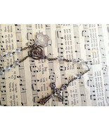 Vintage Jewelry, Catholic Rosary, Crystal Beads... - $37.00