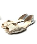 Coach Sherlock Women's 9 D'Orsay Flats Foil Snake Metallic Pink Silver P... - $39.60