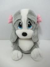 Applause Puppy Dog Sad Sam's girlfriend Honey gray white pink bows whimp... - $29.69