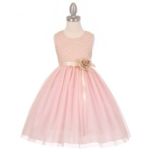 Pink Stretch Lace Tulle Flower Girl Dresses Bridesmaid Birthday Wedding Pageant - $40.00+