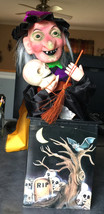 1988 HALLOWEEN FIGURE WITCH ANIMATED LIGHTS SOUND BATTERY OPERATED FUNNY... - $23.03