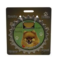 Pomeranian dog coaster magnet bottle opener Bottle Ninjas magnetic - $9.95