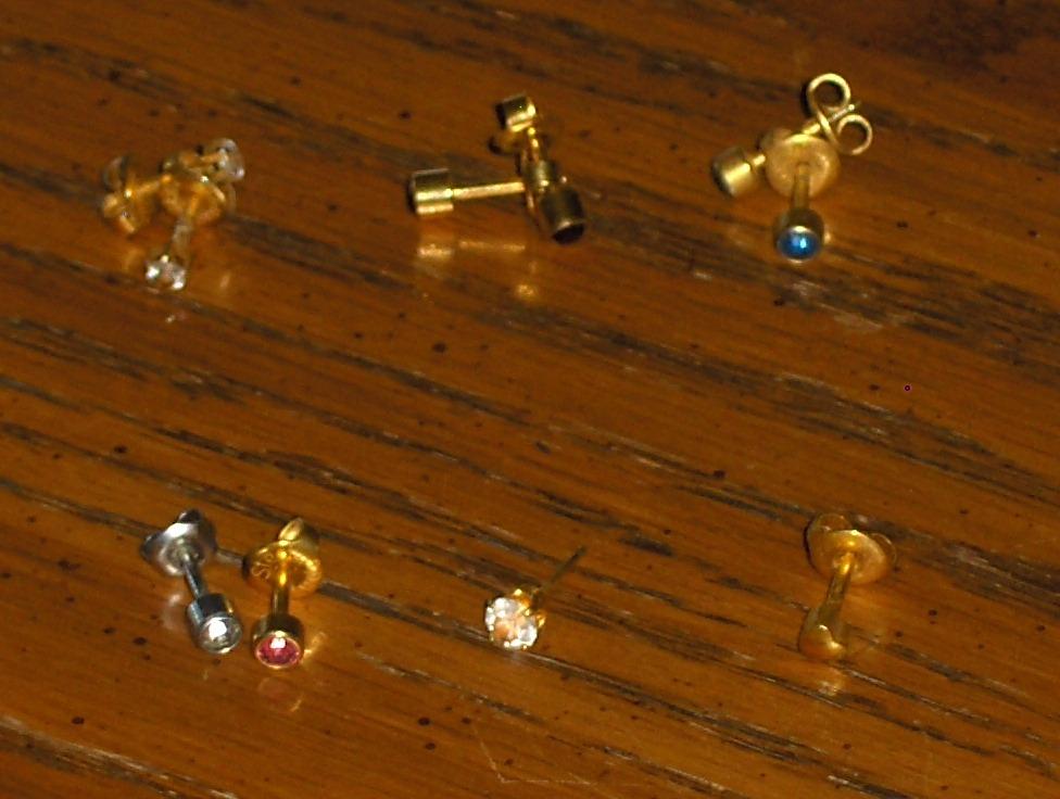 Ear Piercing Stud Earrings