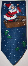 special ties by hallmark 100% silk ties Christmas Santa Fishing - $9.50