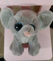 "Ty Beanie Baby  WHOPPER the Elephant 6"" Plush stuffed Animal Blue Glitte... - $8.90"