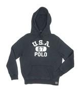 NEW POLO RALPH LAUREN BLACK USA 67 POLO HOODIE HOODED SWEATSHIRT SWEATER SIZE L - $59.99