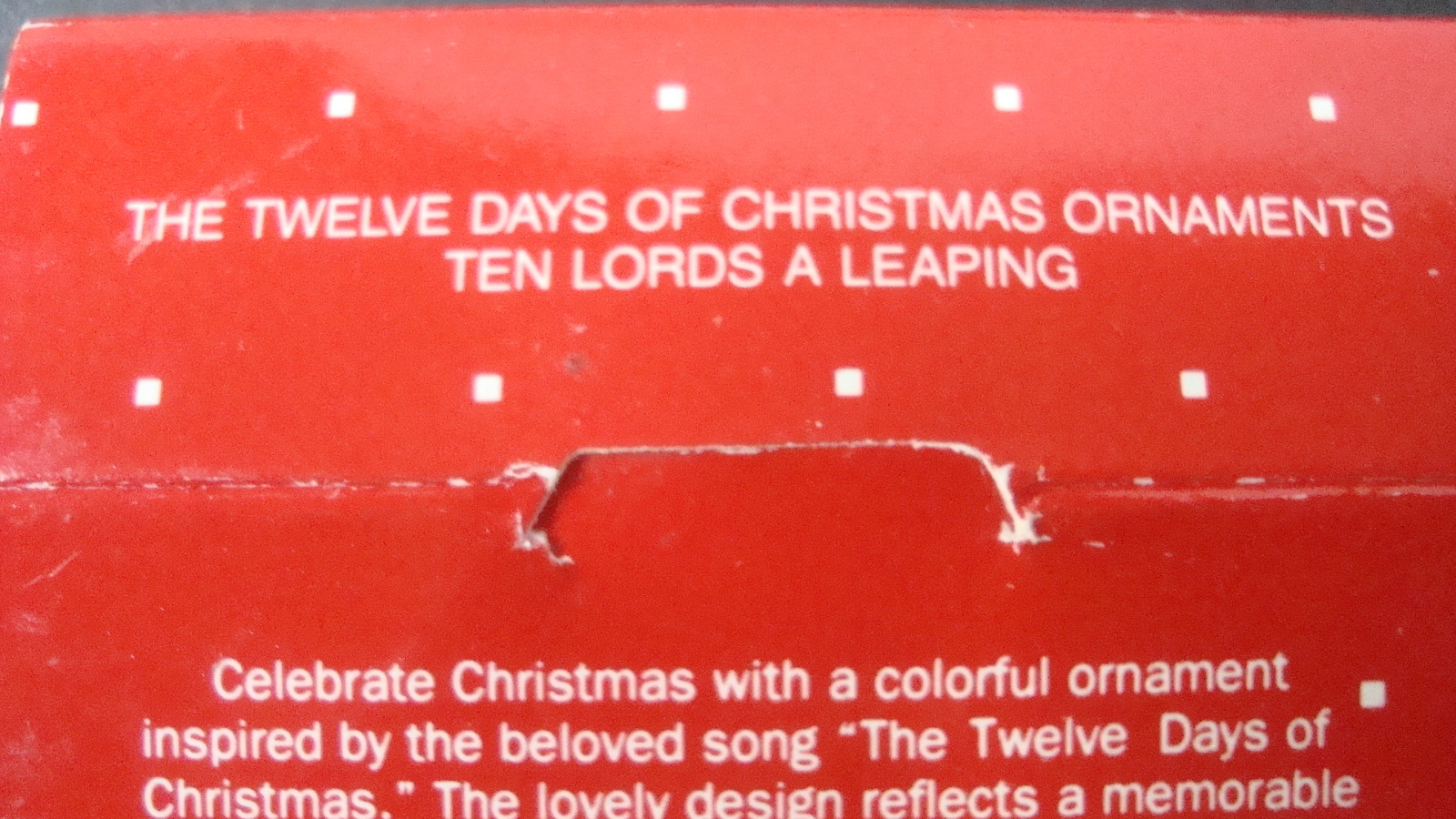 Avon Twelve Days of Christmas Ten Lords A Leaping Ornament