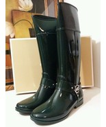 NEW MICHAEL KORS Fulton Harness Tall Rubber Rain Boot Women 10 M HUNTER ... - $99.99