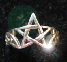 Celtic Pentagram Ring Infinity knot Sterling silver 925 - $24.88