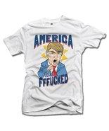 AMERICA YOU'RE FFF**KED! FUNNY ANTI-TRUMP SHIRT M White Men's Tee (6.1oz) - $14.76