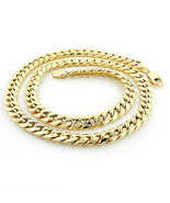 "Solid 14k Yellow Gold 6.5mm Heavy Miami Cuban Link Chain Necklace, 22"" - $3,582.81"