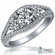 1.86ct F/SI 100% Natural Round Premium Cut Diamond Engagement Ring 18k Gold - $5,939.01
