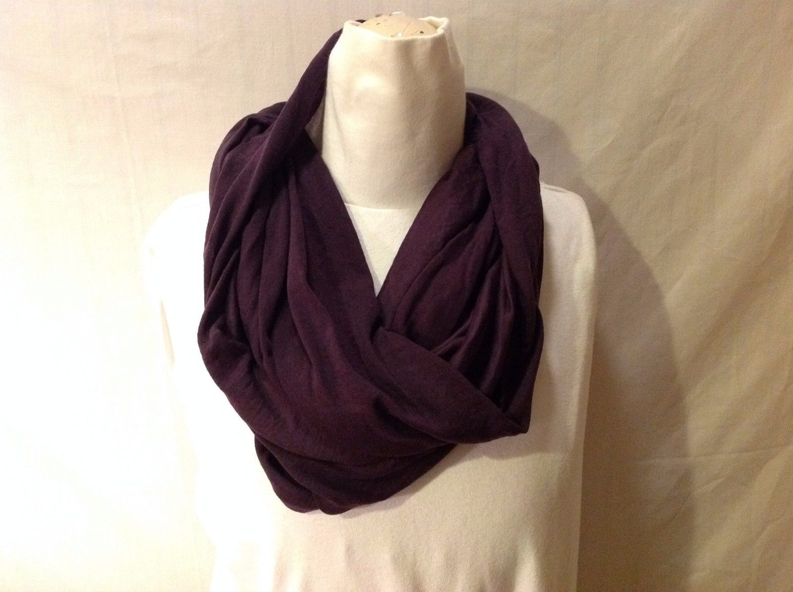 NWT New with Tags Dark Purple Plum infinity Scarf Versatile